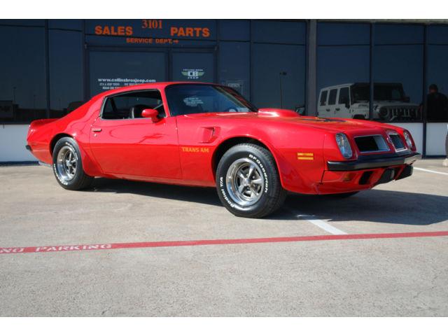 Pontiac : Trans Am Super Duty 1974 pontiac super duty trans am collectors one owner