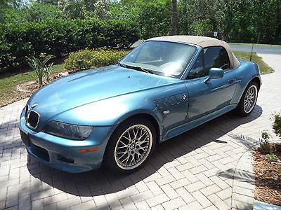 BMW : 3-Series BMW 2001 Z3 M SPORT PACKAGE BLUE METALLIC TAN CONVERTIBLE TOP 1 OWNER 5 SPEED