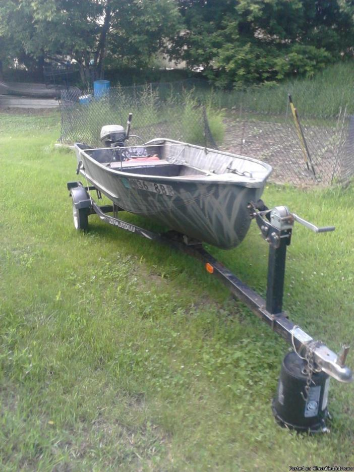 15 ft aluminum fishing boat boats for sale for Fishing pontoons for sale