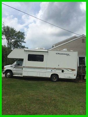 2001 Four Winds Chateau 28A 28' Class C RV Slide Out Awnings Sleeps 5 TV Bed