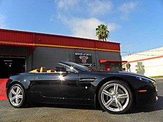 Aston Martin : Vantage ROADSTER V8 VANTAGE VANTAGE*ROADSTER*V8*LOADED*SERVICED*CARFAX CERT*ONYX/TAN*BOOKS/RECS*WE FINANCE