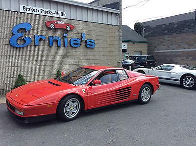 Ferrari : Testarossa COUPE 1990 ferrari testarossa 5.0 l v 12 red