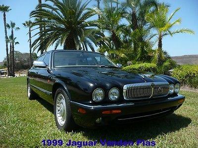 Jaguar : XJ VANDEN PLAS 1999 jaguar vdp 57 000 miles chain tensioner upgrade black ivory xj xj 8