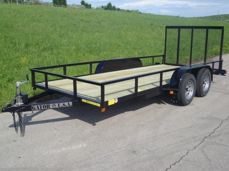 16ft Utility trailer / ATV trailer Tandem axles with Brakes.