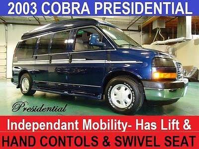 GMC : Savana Cobra Handicap WheelChair Lift -Seat & Hand Cont Cobra Presidential Conversion Van Wheelchair Lift, Hand Controls & Handicap Seat