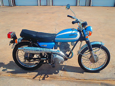 Honda : CL 1971 honda cl 100 scrambler nice vintage bike original condition