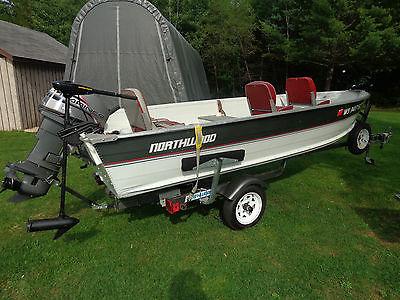 1989 14' Northwood Fishing Boat 25 HP Mariner & Trailer & Trolling Motor