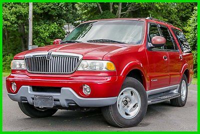 Lincoln : Navigator Base Sport Utility 4-Door 2001 lincoln navigator v 8 low 66 k mi 3 rd row rear ac tow package carfax