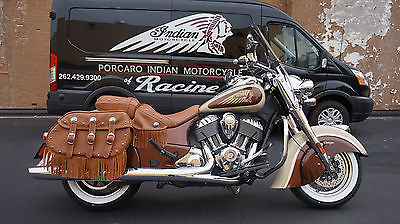 Indian Chief Vintage 2015 Custom Paint Two Tone Cream And Root Beer