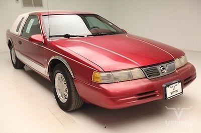 Mercury : Cougar XR7 Sedan RWD 1995 red cloth v 8 ohc 4 speed auto used preowned 172 k miles