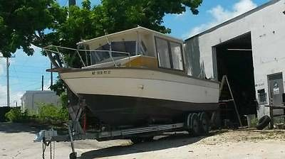 30 Cabin Boat pilothouse, Fresh water fishing boat, Redone! w/trailer!
