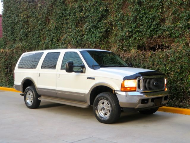 Ford : Excursion 4x4 DIESEL! 2 owner limited 4 x 4 7.3 l 3 rd row htd seats tx truck well maintained 2001 clean