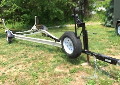 Aluminum boat trailer with surge brakes.  Fits a 26' boat.
