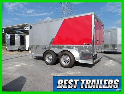 2016 look 7x12 New enclosed motorcycle trailer finished torsion axles 7 x 12