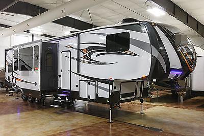 New 2016 425AMP 3 Slide Luxury 5th Fifth Wheel Toy Hauler Slide Out 12 ft Garage