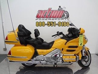 Honda : Gold Wing 2001 honda goldwing yellow windshield tour pack radio financing shipping