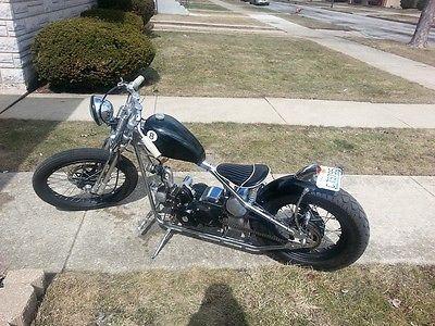 Custom Built Motorcycles : Bobber 2006 hk 1 kikker hardknock 5150 3 4 size bobber fully automatic
