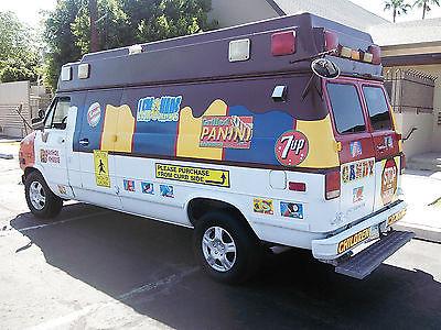 Chevrolet : G20 Van cargo Ice cream truck.Custom, Colorful van concession food events, Money maker