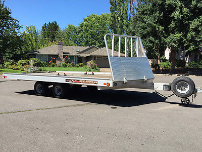 Aluminum 4 ATV / 3 Snowmobile Trailer