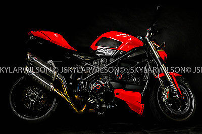 Ducati : Superbike 2010 ducati streetfighter 1098 red termignoni carbon fiber