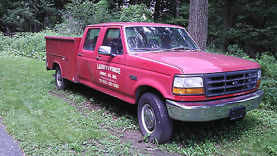 Ford : F-350 1993 f 350 crew cab with contractor storage bed