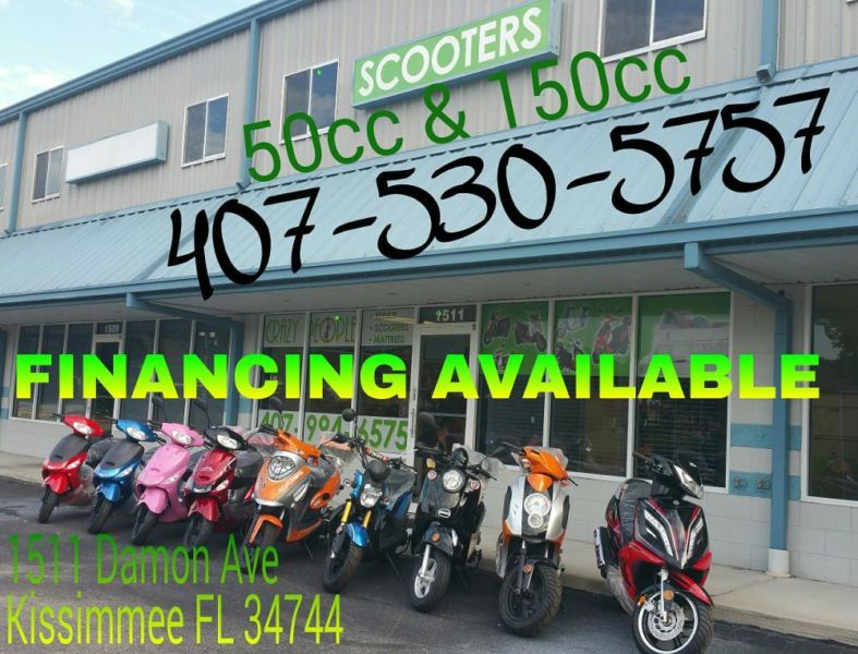 SCOOTERS NEW 49cc & 150cc MOTORAS