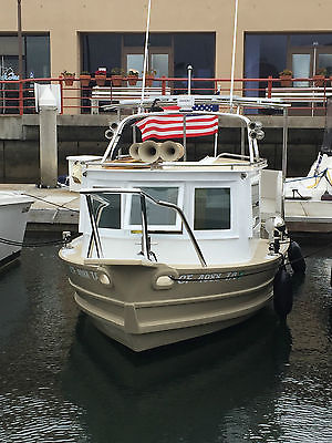 Rare Classic Tugboat Fully Custom Electric Solar Power Boat Cruiser