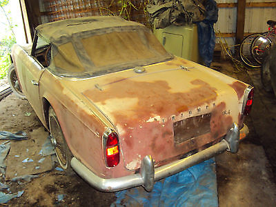 Triumph : Other 1964 triumph tr 4 classic english car parts or restore extra parts for sale too