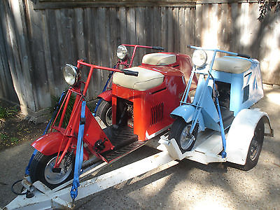 Cushman : 50's Series Pacemaker  Cushman Scooters - Qty: 3, 50's Series with custom trailer