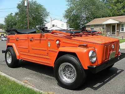 Volkswagen : Thing 1973 vw thing 39 k miles garage kept pumpkin no rust and no mods