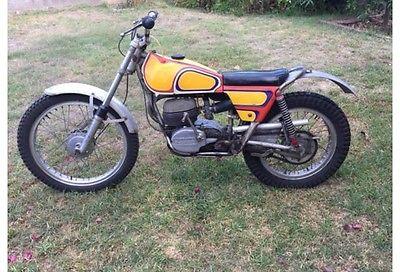 Bultaco : SHERPA T 250 1971 bultaco sherpa t 250 twin shock trials bike custom pin striped by famous