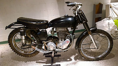 Other Makes 1956 ajs 18 cs scrambler 500 g 18 cs vintage motorcycle ajs matchless 500 british