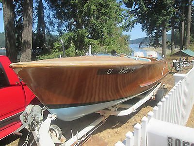 Classic 1956 Wagemaker  boat, Twin Johnson 40hps each 1963,,,Gator Trailer 1956