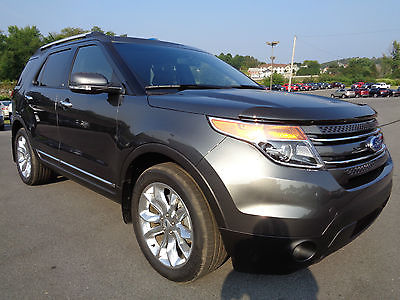Ford : Explorer Limited 3.5L 4x4 Nav Moonroof Tow Package Gray 4WD 2015 explorer limited 4 x 4 navigation leather dual sunroof 1 owner 3 k miles 4 wd