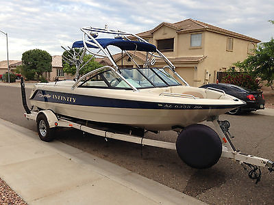 Infinity LX-1 Performance Wake board Ski Boat W/Trailer and Towable full cover