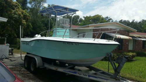 Seafoam green outside with white outside bottom and interior. open fisherman