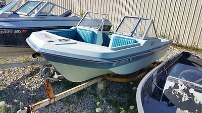 1975 ALL SPORT TRI-HULL 15' foot fiberglass BOAT with TRAILER