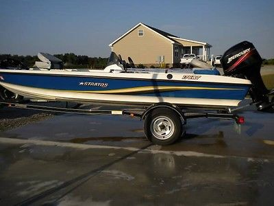 2007 STRATOS 176XT W/ MERCURY 50 HP MOTOR 76 LB TROLLING MOTOR LIKE NEW COND