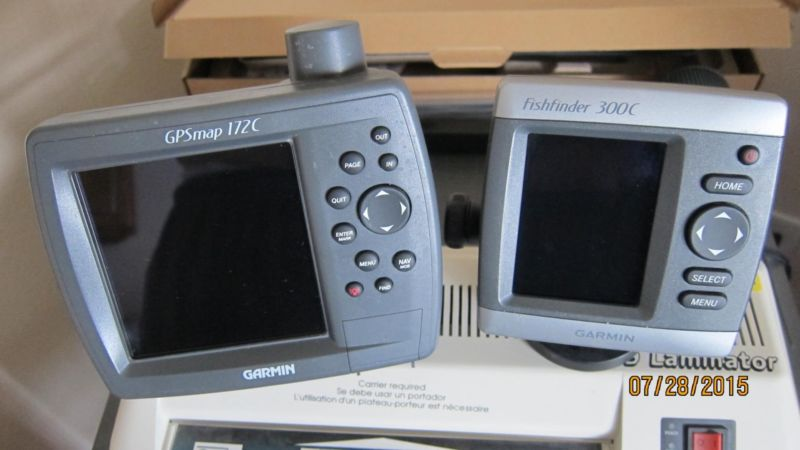 Garmin 172c GPSMAP AND Fishfinder 300c