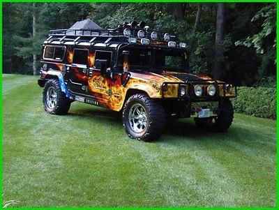 Hummer : H1 Wagon 2000 am general hummer h 1 custom 16 k paint interior wheels airhorn