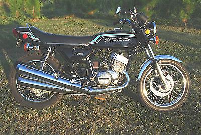 Kawasaki : Other 1972 kawasaki 750 triple h 2 black excellent restored