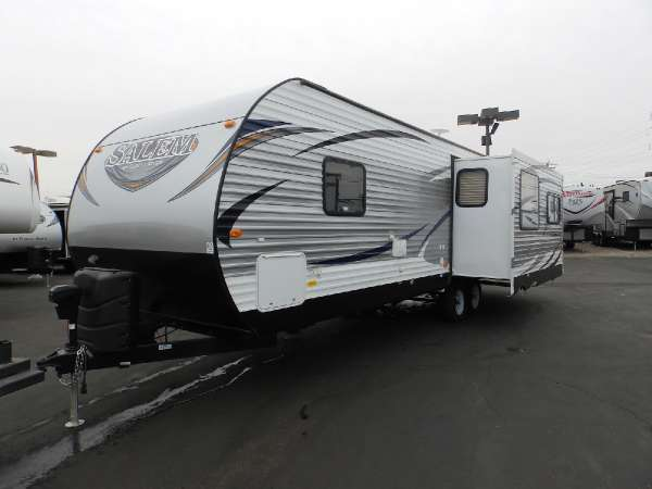 2016  Forest River  SALEM 27 RLSS  1 SLIDE  REAR LOUNGE CHAIRS  FRONT SLEEPER  POWER AWNING  POWER TONGUE JACK  POWER STABILIZER JACKS