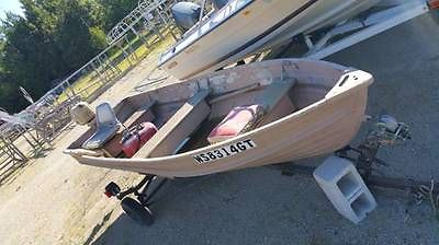 95 Star Craft 12' ft Camouflage FISHING BOAT w/ Motor & Trailer