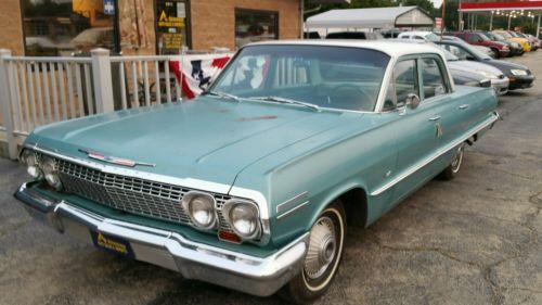 Chevrolet : Impala 4 Door Sedan 1963 chevy impala 4 door sedan survivor