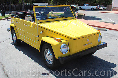 Volkswagen : Thing Convertible 1974 volkswagen thing california car fully restored