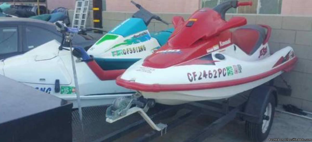 93 Seadoo spx, 97 Kawasaki stx900, Kaw a saki x2 jet skis $4350