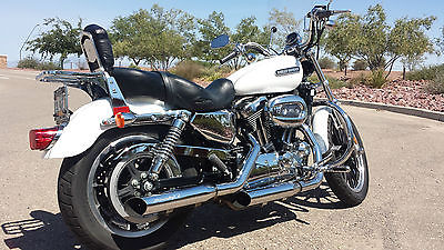 Harley-Davidson : Sportster 2006 harley davidson 1200 custom low in pearl white