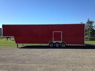 2010 40' L x 9' H x 8' W Gooseneck Enclosed Cargo Trailer 7,000 Lb. Tri Axle