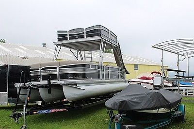 2013 30FT Premier Pontoon Boat - Double Deck with Water Slide w/new Trailer