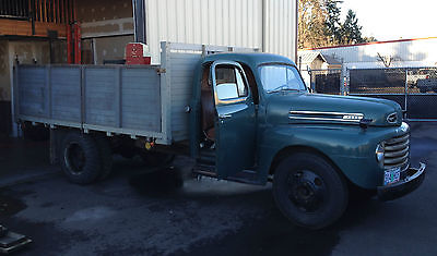 Ford : Other Pickups Original *Oregon Barn Find* 1949 Ford F5 Flatbed Pickup Truck Grain Box & Stake Rails
